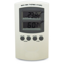 Termohigrómetro digital blanco max/min
